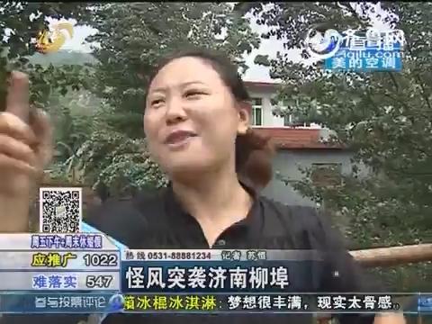 怪风突袭济南柳埠