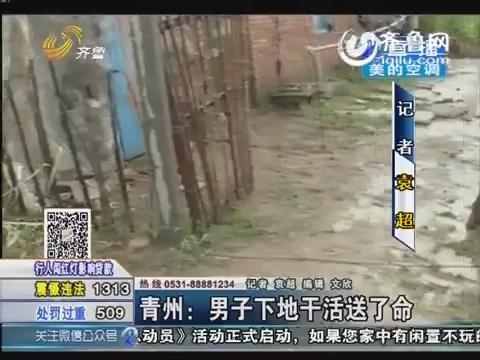 青州:男子下地干活送了命