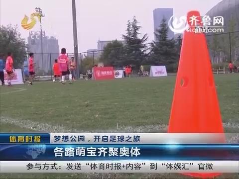 梦想公园开启足球之旅 各路萌宝齐聚奥体