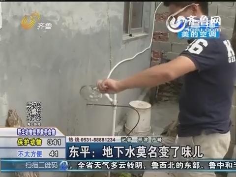东平:地下水莫名变了味儿