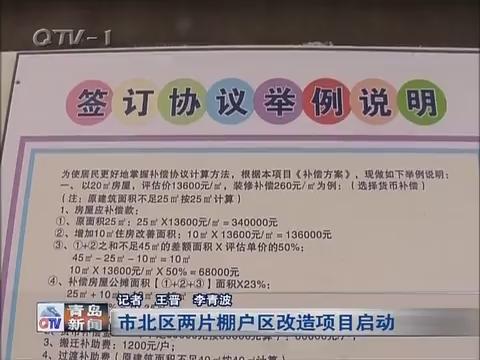青岛市北区两片棚户区改造项目启动