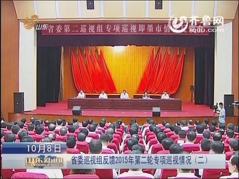 山东省委巡视组反馈2015年第二轮专项巡视情况(二)