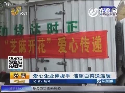 济南:爱心企业伸援手 滞销白菜送温暖