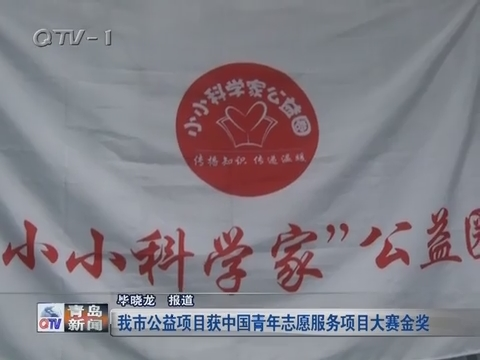 青岛市公益项目获中国青年志愿服务项目大赛金奖