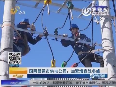 国网昌邑市供电公司:加紧增容战冬峰
