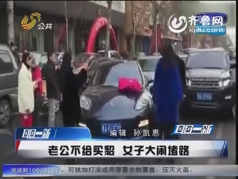 哈尔滨:老公不给买貂 女子大闹堵路