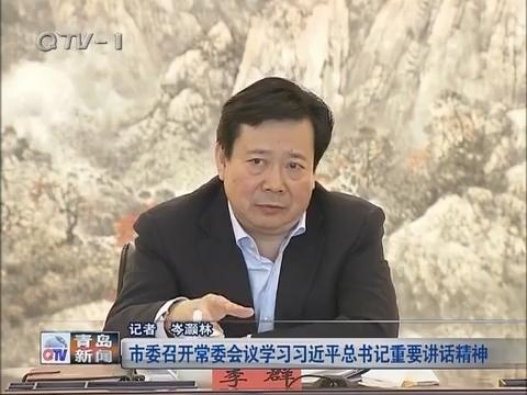青岛市委召开常委会议学习习近平总书记重要讲话精神